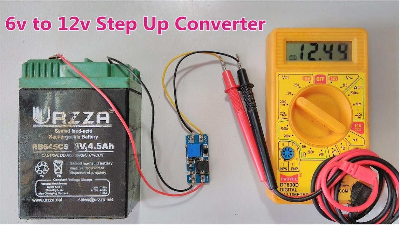 small resolution of 6v to 12v dc step up converter using boost power supply module series 2