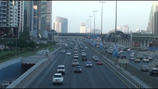 Dubai Metro - View from Emirates Towers Metro Station