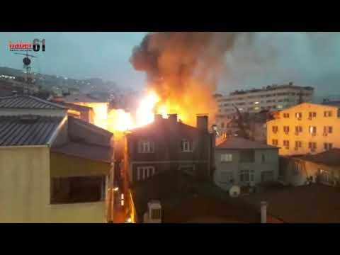 Trabzon'da korku dolu anlar: Alevler küle...