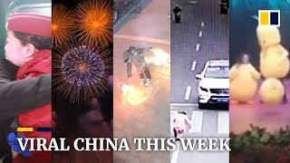 Viral China this week: Reverse fireworks' go viral in new Chinese social media trend and more