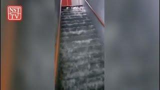 Error during maintenance work causes flooding at Komtar