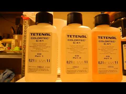 Mixing C41 color home development kit Tetenal Colortec chemicals