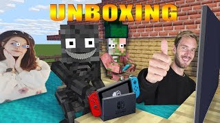 MONSTER SCHOOL : PewDiePie UNBOXING GIFTS - Minecraft Animation