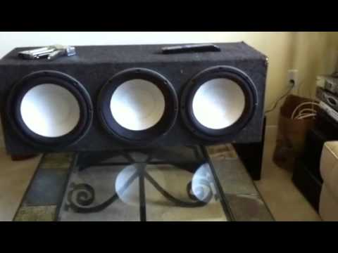 3 12 Infinity Car Speakers On Home Stereo Youtube
