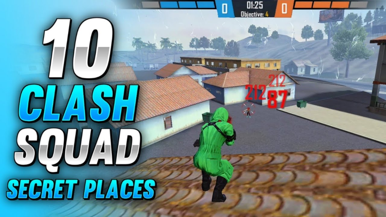 TOP 10 CLASH SQUAD SECRET PLACES IN FREE FIRE | FREE FIRE CLASH SQUAD TIPS AND TRICKS (PART - 21)