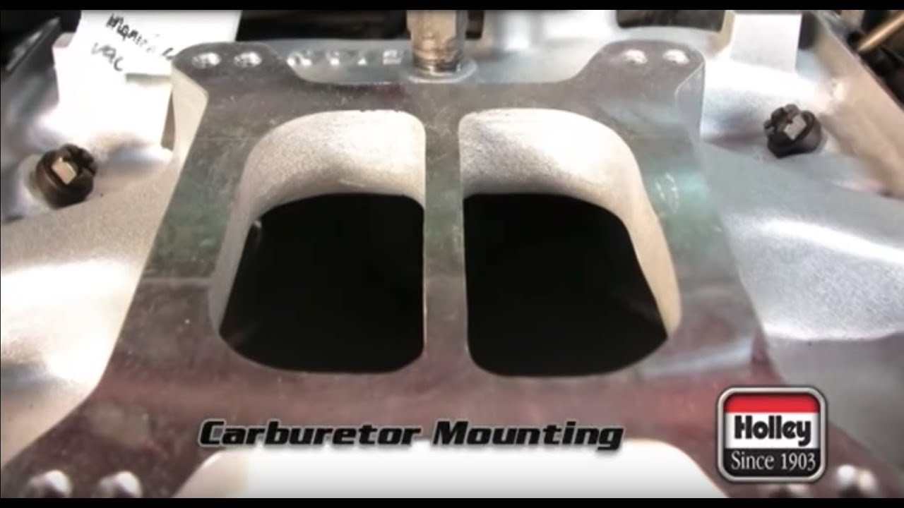 how to install a holley carburetor [ 1280 x 720 Pixel ]