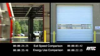 Rytec's Spiral® Door vs. A Conventional Door in a Fire Station Side-by-Side Comparison