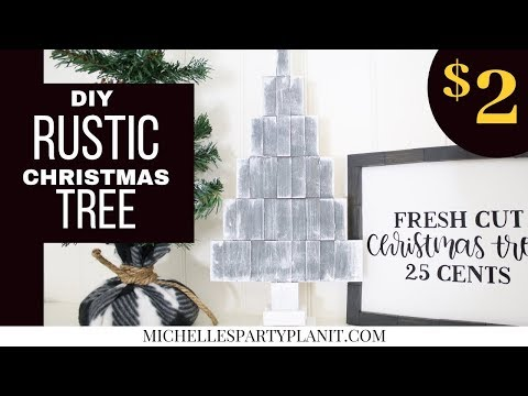 DIY Rustic Wood Christmas Tree - Dollar Tree DIY - Craft with Me