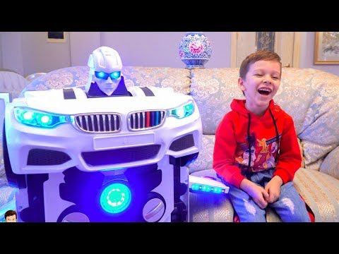 Tema play with toys Transformers and ride on cars Compilation video from T-Play
