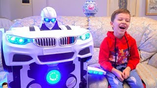 Tema play with toys Transformers and ride on cars Compilation video from T-Play thumbnail
