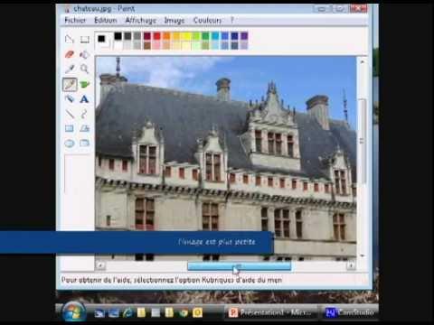 Reduire La Taille D Une Image Avec Paint Youtube