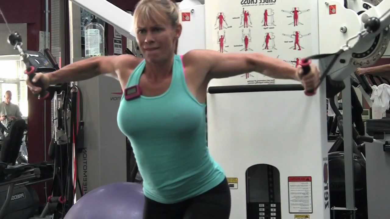 More Sexy Pecs With Clifta- Chest Training- Girl Doing -3975