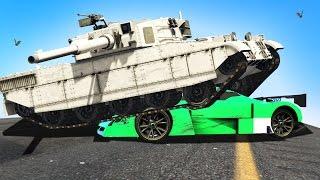 EXTREME TANKS vs CARS! (GTA 5 Funny Moments)