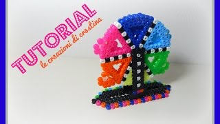 Tutorial Ruota Panoramica 3D con Hama Beads - www.perlinedastirare.it