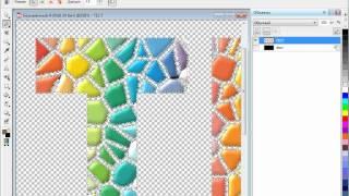 Текст из кусочков мозаики в Corel PHOTO-PAINT