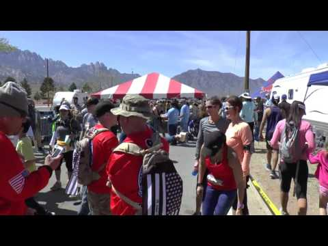 Watch Marchers at the Bataan Memorial Death March Finish Line. Part 2