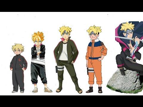 Naruto Characters: Uzumaki Boruto's Evolution