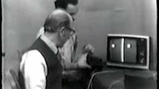 Ralph Baer and Bill Harrison Play Ping-Pong Video Game, 1969
