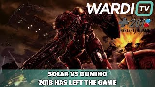 Solar vs GuMiho (ZvT) - 2018 Has Left the Game Groups