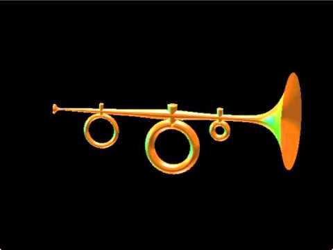 Digital construction and sound simulation of a novel brass instrument