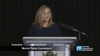 03/06/18 Mayor Megan Barry Announcement