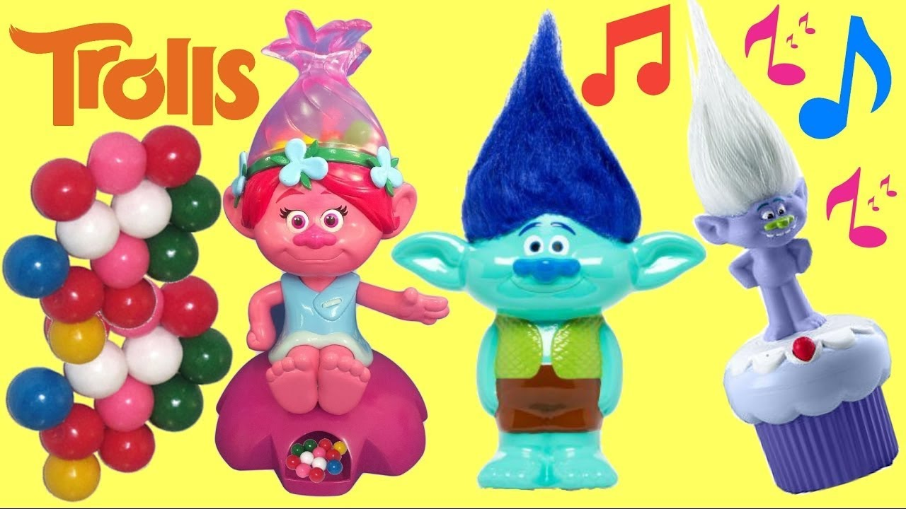 dreamworks-trolls-poppy-gumball-candy-machine-dispenser-branch-bank-guy-music-sound-dance-toys