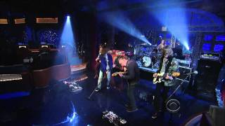"(HD) Cage The Elephant - ""Shake Me Down"" 1/11 Letterman (TheAudioPerv.com)"