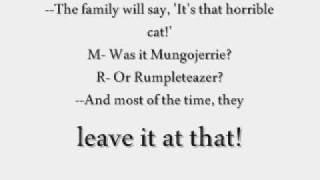 CATS [Original London Cast Recording]; Mungojerrie and Rumpleteazer Lyrics