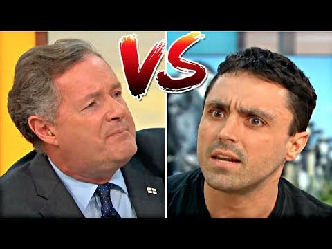 Piers Morgan BATTLES Vegan Activist on LIVE TV!