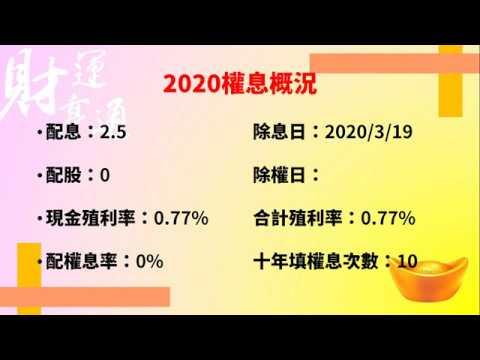 觀察股》即將除息股票(2330臺積電)(20200221盤後) - YouTube