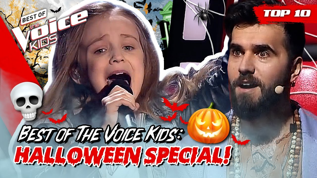 FREAKY & SPOOKY songs in The Voice Kids! 🎃🦇 | TOP 10: Halloween Special