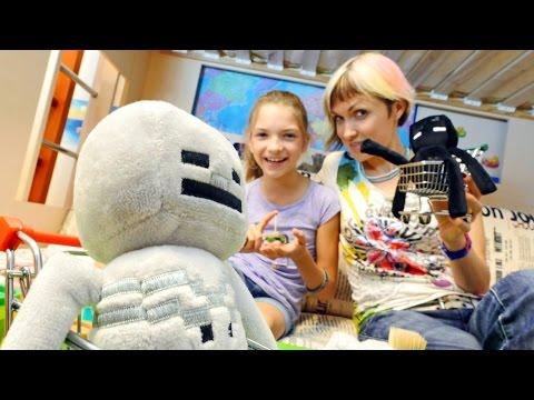 Видео для девочек. Готовим вместе майнкрафт канапе из PlayDoh. Маша и Света
