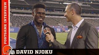 David Njoku Postgame Interview vs Giants | Cleveland Browns