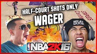 HALF-COURT BUZZER BEATERS! 60 SECOND BASKETBALL CHALLENGE! vs CashNasty, TTG, LostNUnbound & Los!