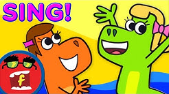 If You're a Dino and You Know It Lyric Video | Fredbot Kids Songs (Lucy the Dinosaur)