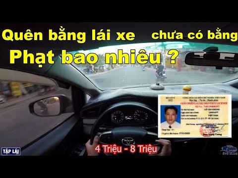 Quên bằng lái xe phạt bao nhiêu ? Chưa có phạt bao nhiêu ? Ô Tô Vlog 102