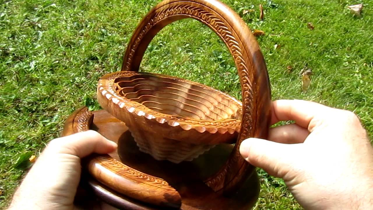 Collapsible Folding Wooden Basket From Heartwood Gifts