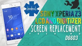 sony xperia z3 lcd and digitizer screen replacement tech md