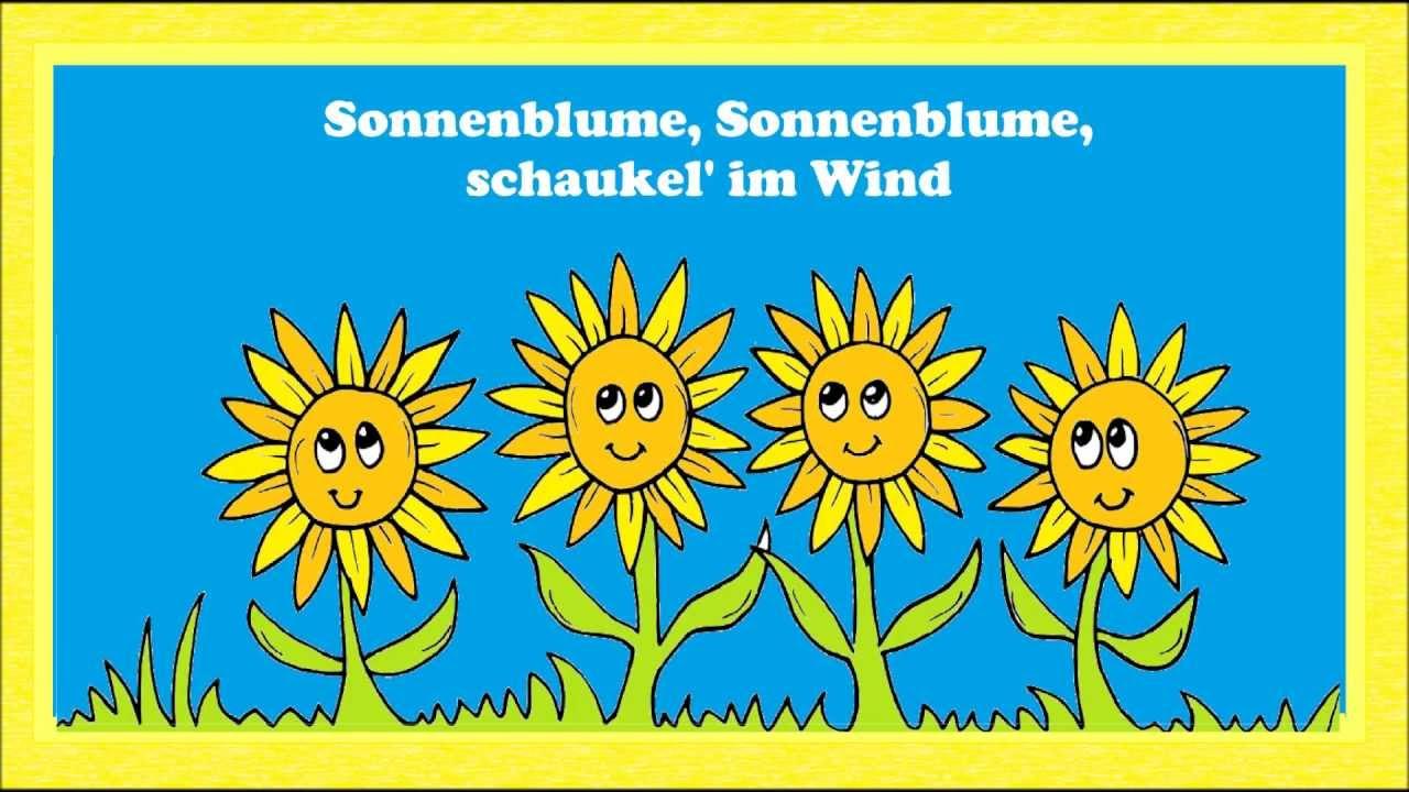 Sonnenblume - ein einfaches Sommerlied für Kinder - YouTube
