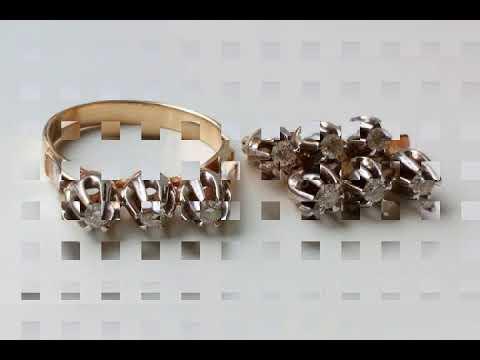 Комплект с бриллиантами, золото 585