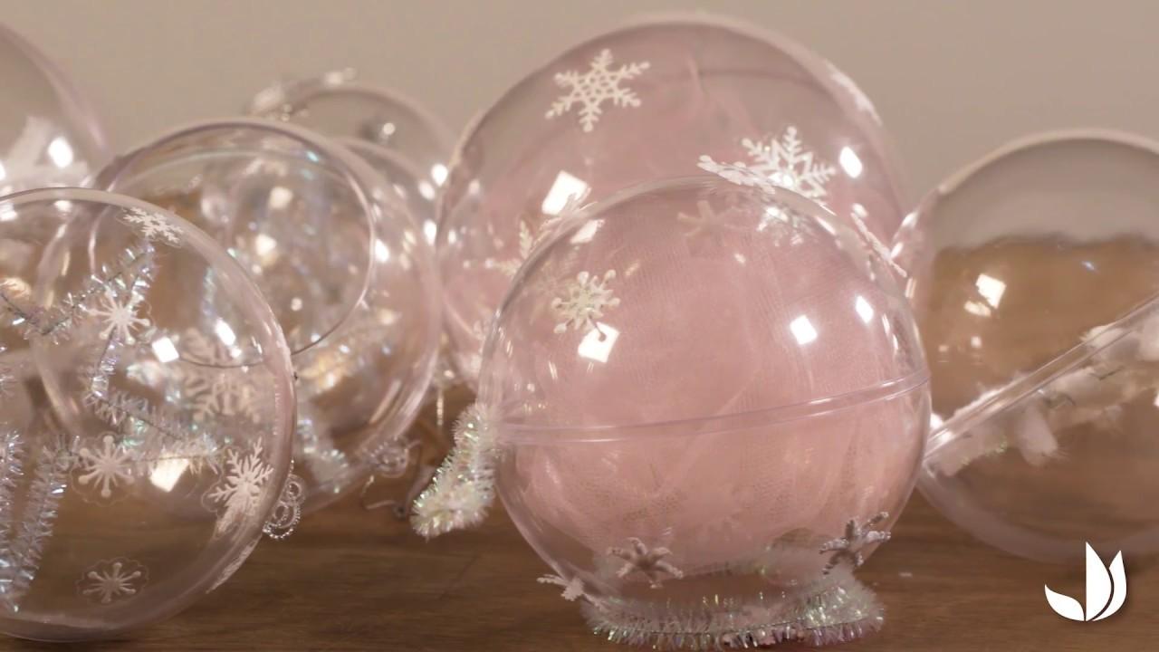 Idee Deco Boule Plastique Transparente Noel diy noël : boules flocons de neige - jardinerie truffaut tv