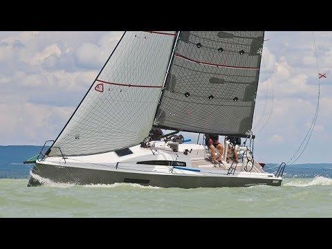 L30 One Design Family Racer - Test sailing. 23 knots. Balaton 2017.