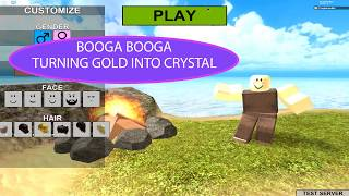 Roblox Booga Booga Crystal Booga Booga Turning Gold Into Crystals By Purplefembot