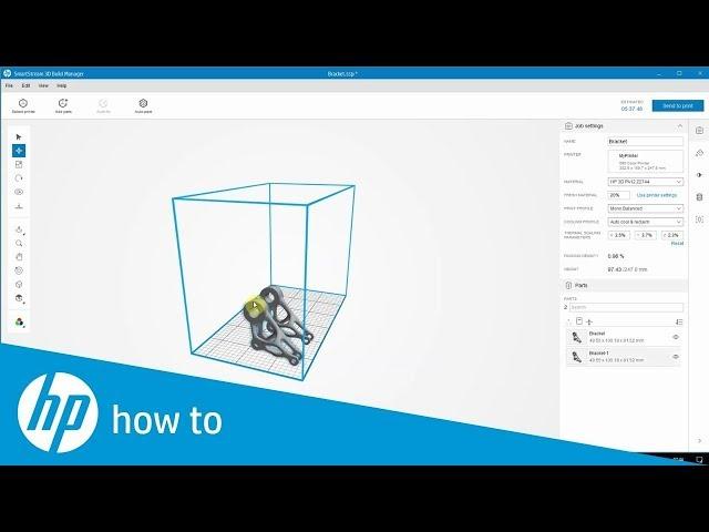 Jak przygotować modele do druku 3D - HP SmartStream 3D, Build Manager
