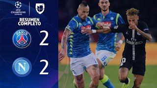 PSG 2-2 Napoli - GOLES Y RESUMEN - Grupo C UEFA Champions League