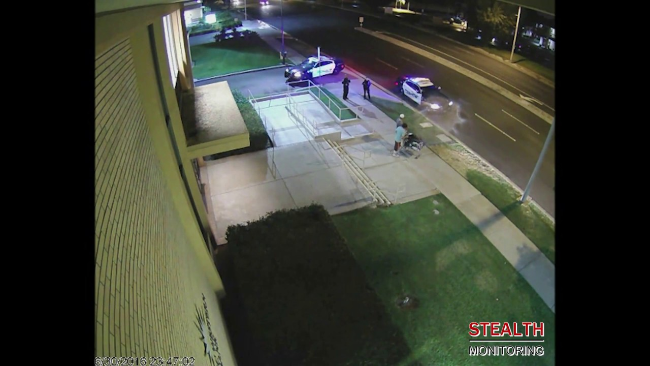 Live video surveillance catches bank property vagrants – Shopping Center Security