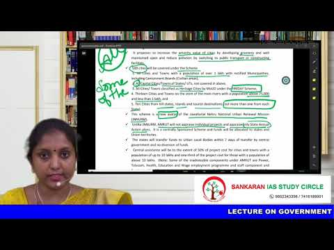 SCHEMES AND PROGRAMMES OF GOVERNMENT OF INDIA - MINISTRY OF URBAN DEVELOPMENT By Mrs DEEPA