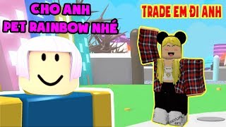 Roblox | Fake Noob Try Pleasing Fan Please Pet Rainbow And Links | Pet Simulator