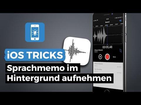 Sprachmemo unter iOS 8 am iPhone im Hintergrund aufnehmen | iPhone-Tricks.de