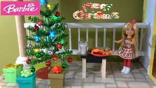 Barbie and Ken Getting Ready for Christmas Holidays and Santa with NEW Chelsea and Barbie Toys